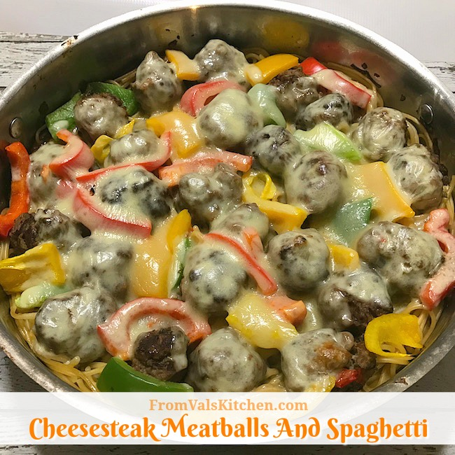 Cheesesteak Meatballs And Spaghetti #Recipe Featuring Crowdcow