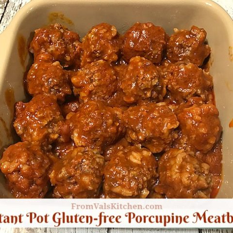 Instant Pot Gluten-free Porcupine Meatballs Recipe From Val's Kitchen