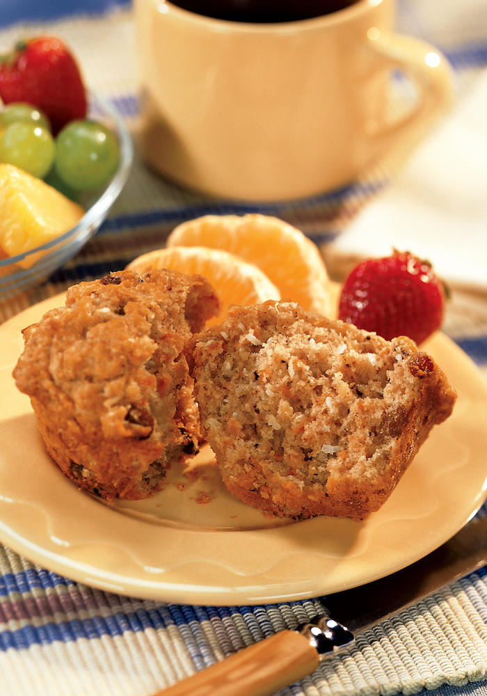 Carrot Raisin Muffins Recipe - from Best Of Bridge: Home Cooking Cookbook