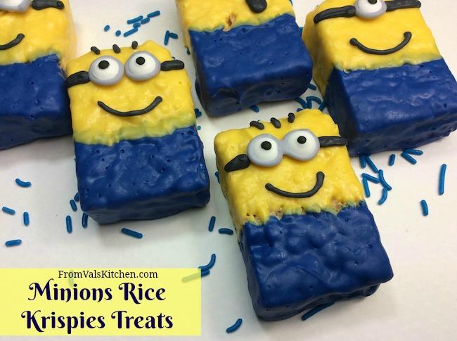 Minions Rice Krispies Treats Recipe From Val's Kitchen