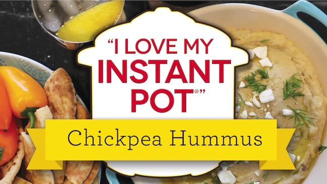 Chickpea Hummus Recipe From The I Love My Instant Pot Recipe Book