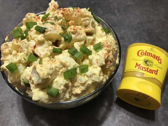 Deviled Egg Potato Salad Recipe #HotMessAround #ColmansMakesItHot