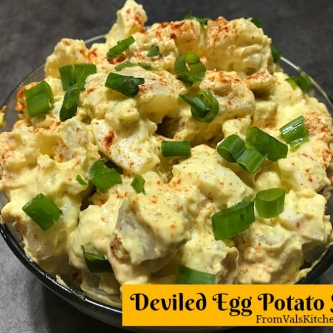 Deviled Egg Potato Salad Recipe From Val's Kitchen
