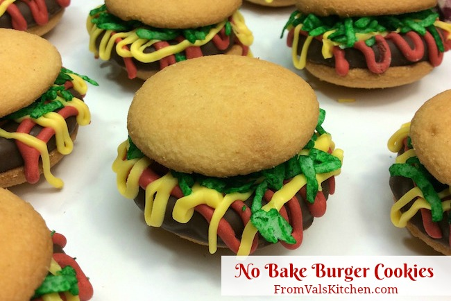 No-Bake Burger Cookies Recipe From Val's Kitchen