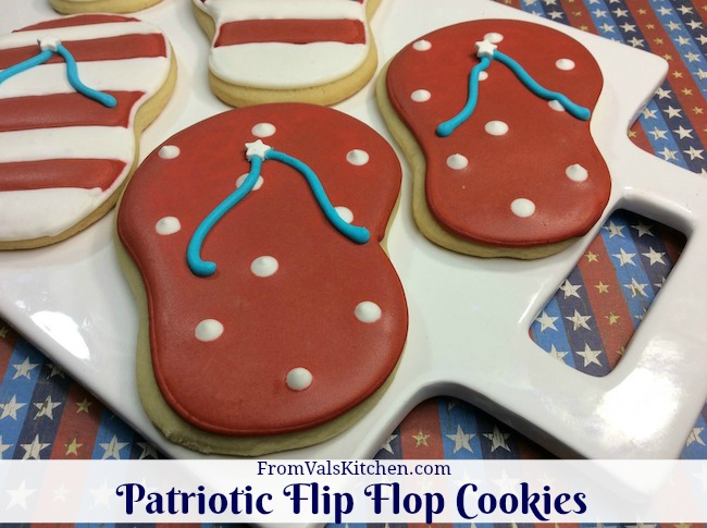 Patriotic Flip Flop Cookies Recipe From Val's Kitchen