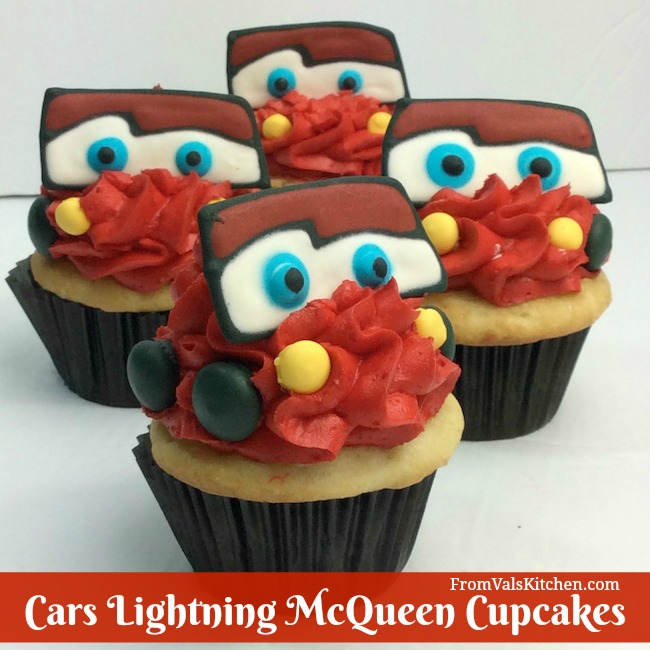 Cars Lightning McQueen Cupcakes Recipe From Val's Kitchen