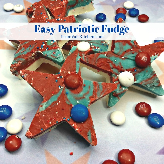 Easy Patriotic Fudge Recipe From Val's Kitchen