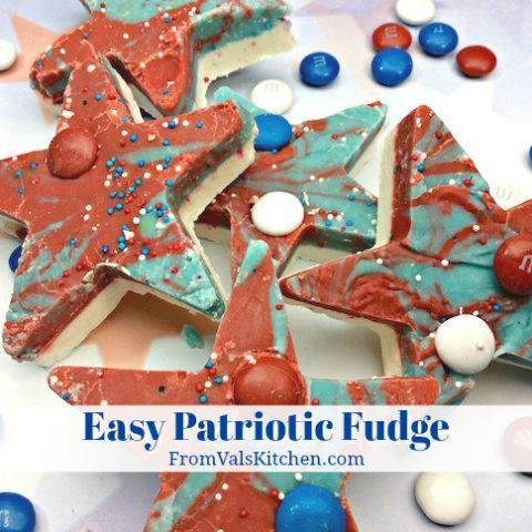 Easy Patriotic Fudge Recipe From Val's Kitchen