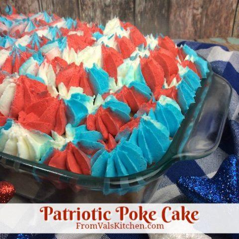 Patriotic Poke Cake Recipe From Val's Kitchen