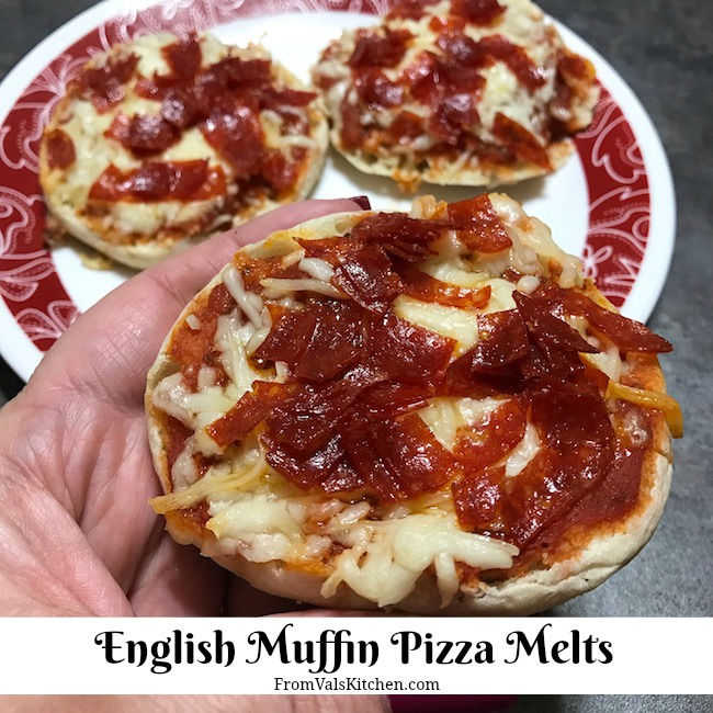 English Muffin Pizza Melts Recipe From Val's Kitchen