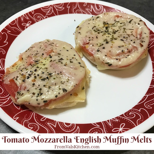Tomato Mozzarella English Muffin Melts Recipe From Val's Kitchen
