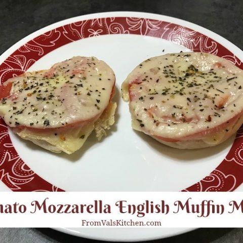 Tomato Mozzarella English Muffin Melts Recipe From Val's Kitchen