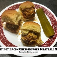 Instant Pot Bacon Cheeseburger Meatball Sliders