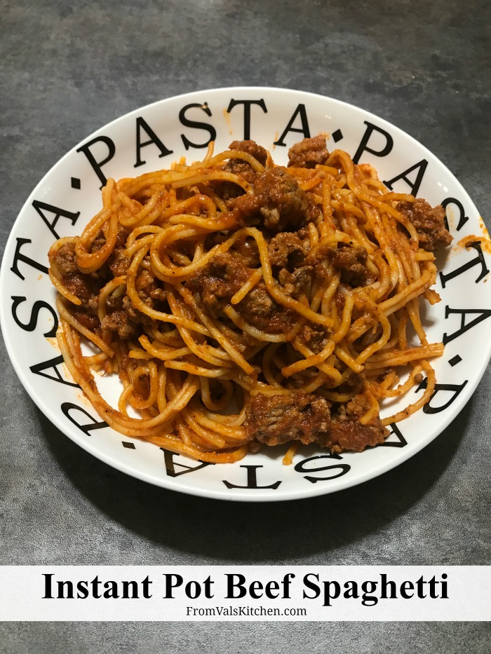 Instant Pot Beef Spaghetti Recipe From Val's Kitchen
