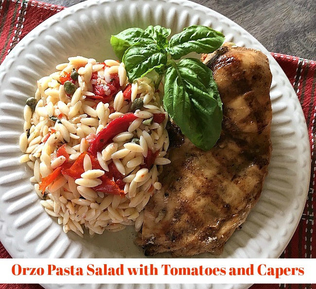 Orzo Pasta Salad with Tomatoes and Capers Recipe From Val's Kitchen