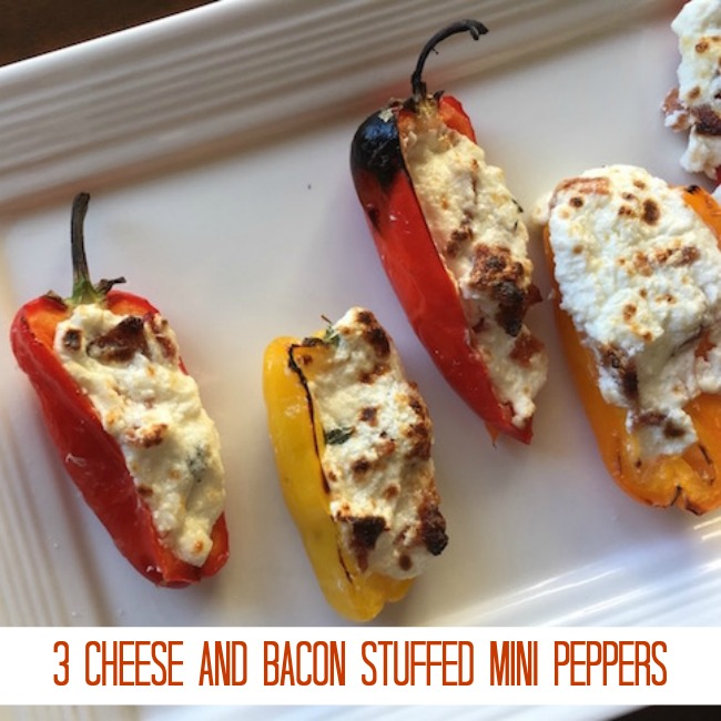 3 Cheese and Bacon Stuffed Mini Peppers Recipe From Val's Kitchen