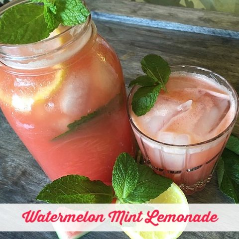 Watermelon Mint Lemonade Recipe From Val's Kitchen