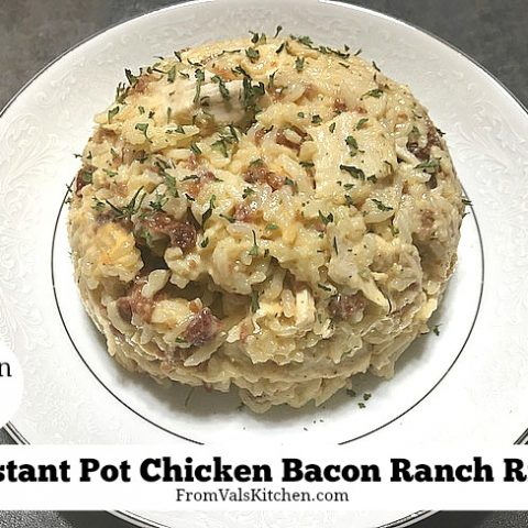 Instant Pot Gluten-free Chicken Bacon Ranch Rice Recipe From Val's Kitchen