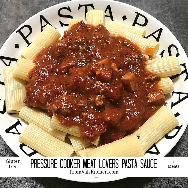 Meat Lovers Pasta Sauce Recipe From Val's Kitchen