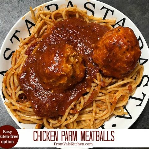 Chicken Parm Meatballs (With Easy Gluten-free Option)