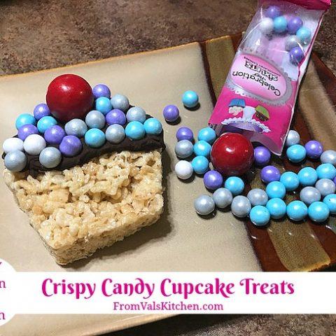 Crispy Candy Cupcake Treats