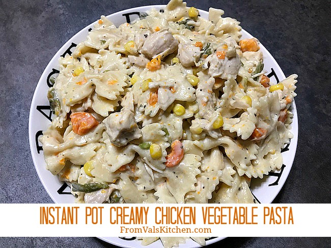 Instant Pot Creamy Chicken Vegetable Pasta Recipe From Val's Kitchen