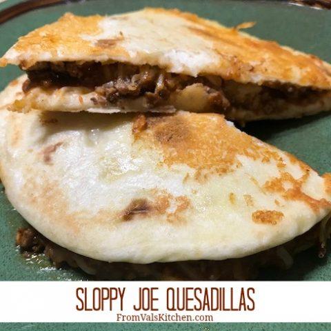 Sloppy Joe Quesadillas Recipe From Val's Kitchen