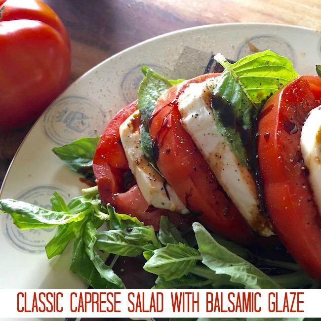 Classic Caprese Salad with Balsamic Glaze Recipe