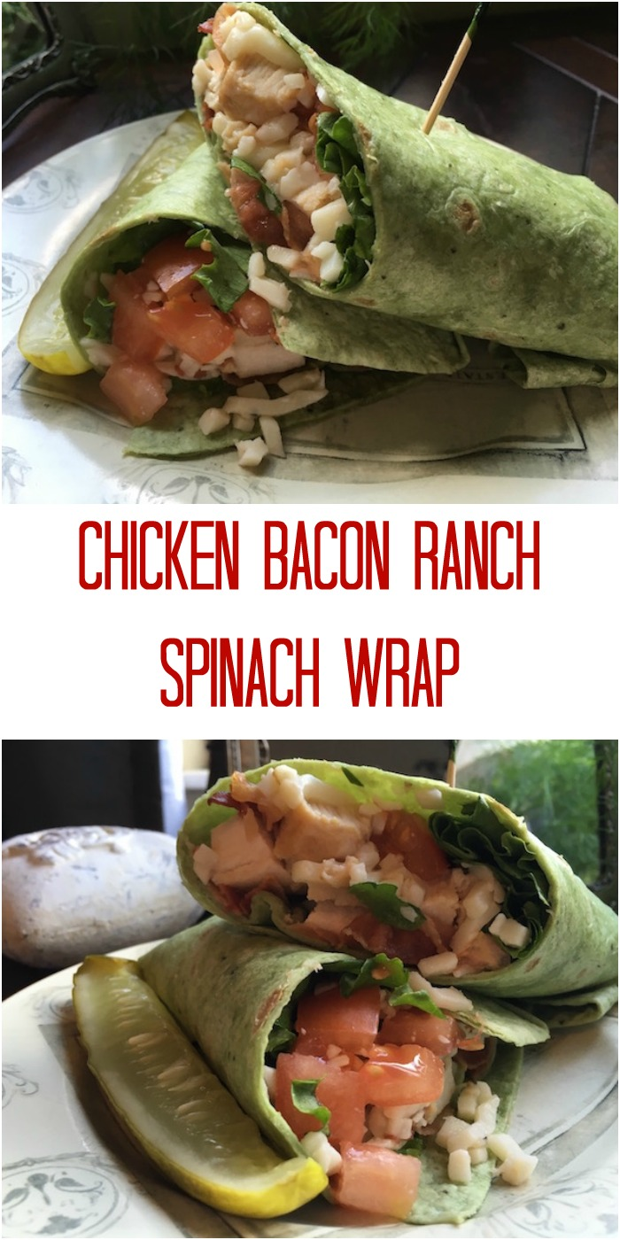 Easy Chicken Bacon Ranch Spinach Wrap Recipe From Val's Kitchen