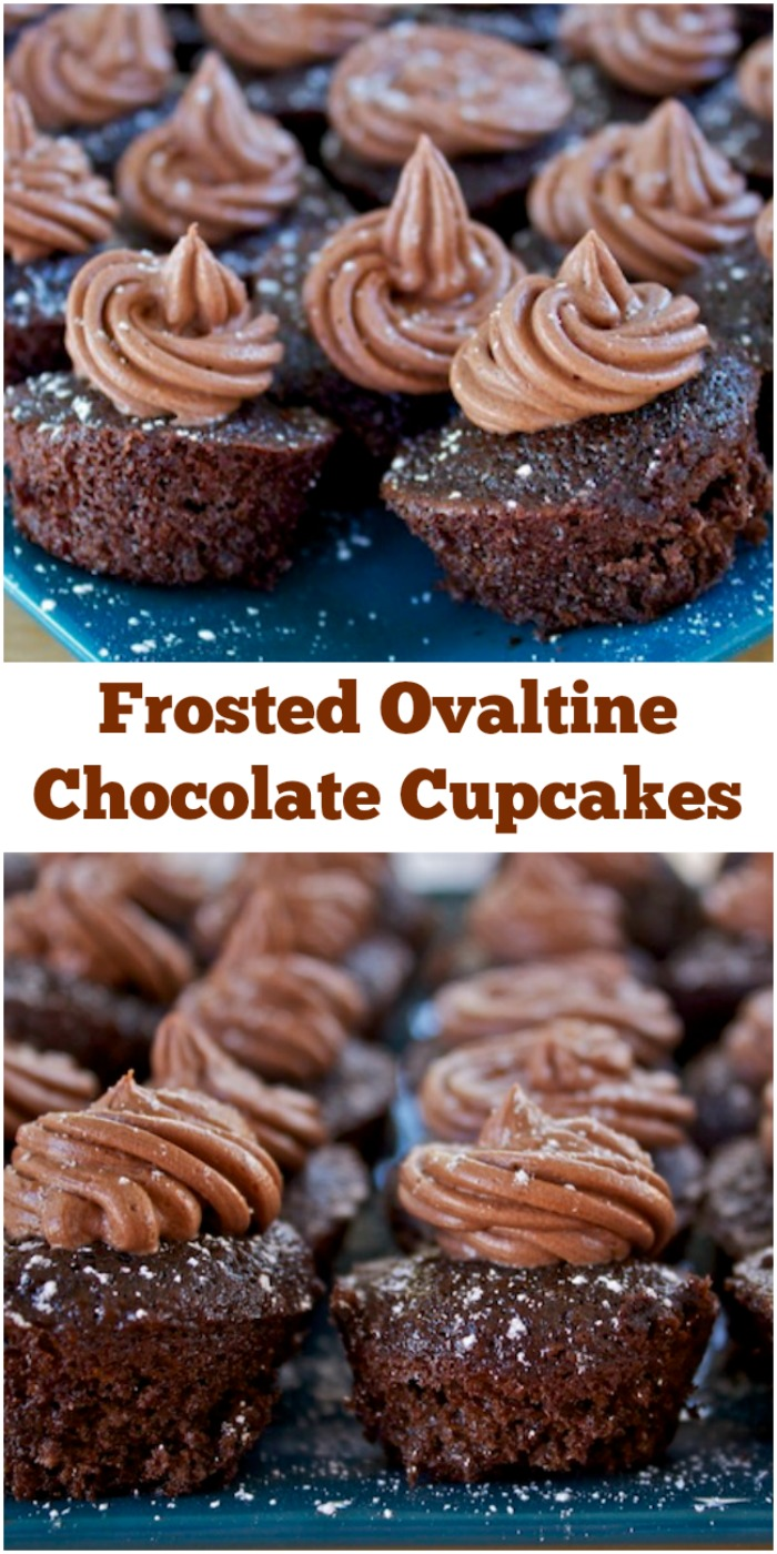 Frosted Ovaltine Chocolate Cupcakes Recipe