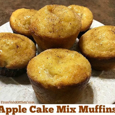 Apple Cake Mix Muffins Recipe From Val's Kitchen