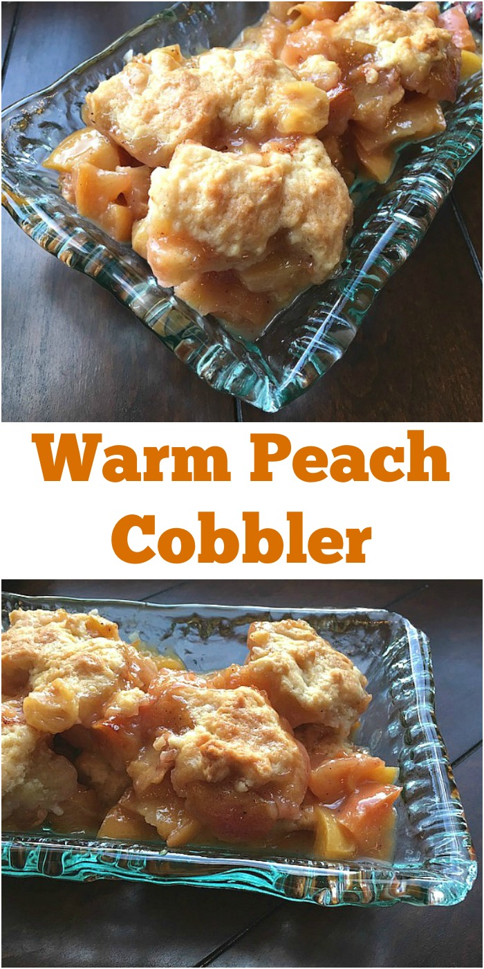 Warm Peach Cobbler Recipe