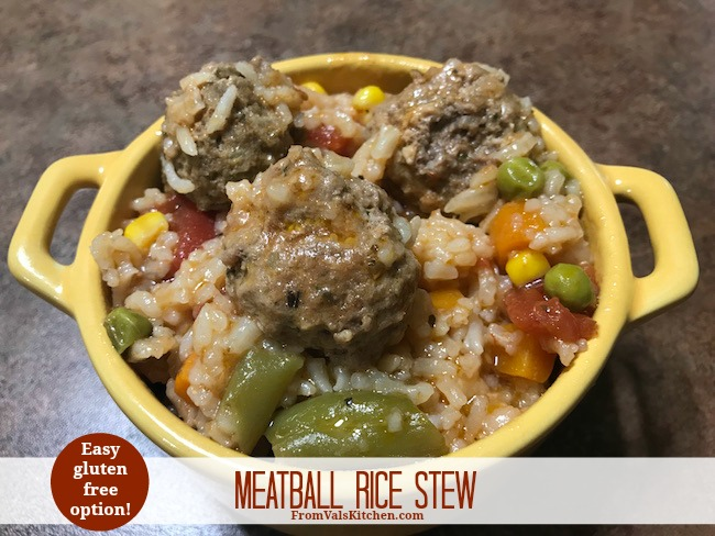 Meatball Rice Stew Recipe From Val's Kitchen