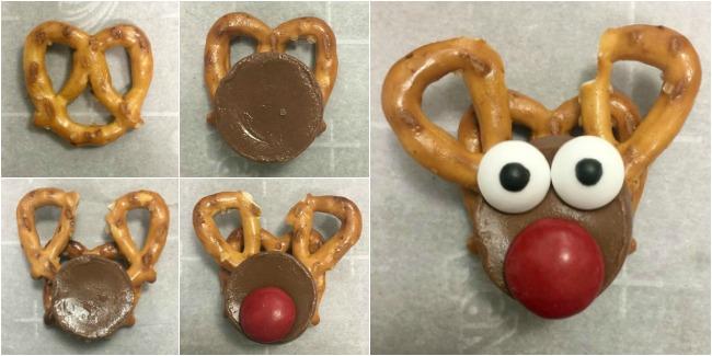 Reindeer Pretzel Treats Recipe