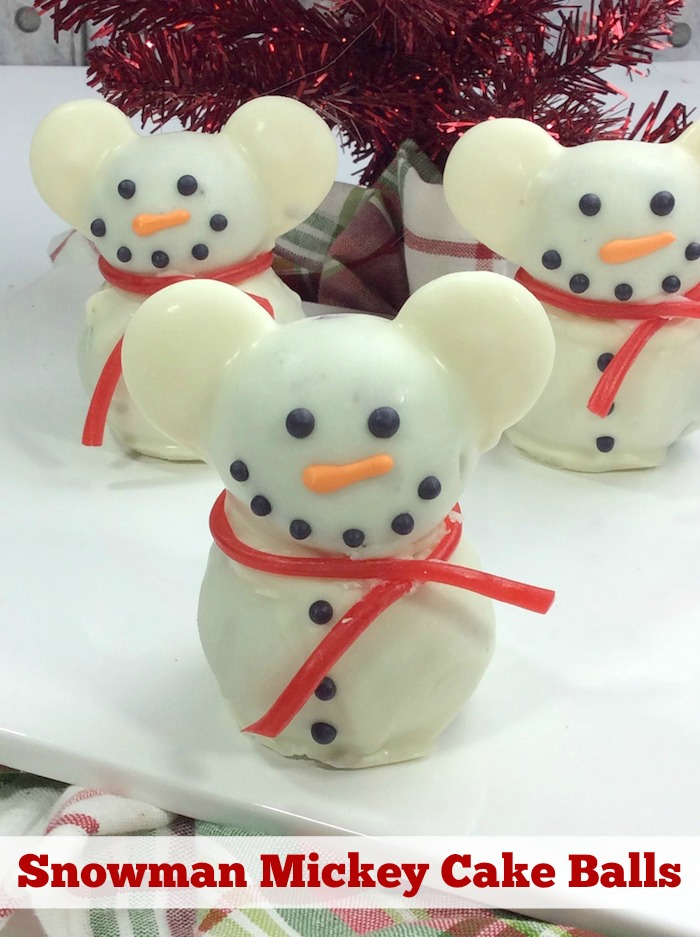 Snowman Mickey Cake Balls Recipe From Val S Kitchen
