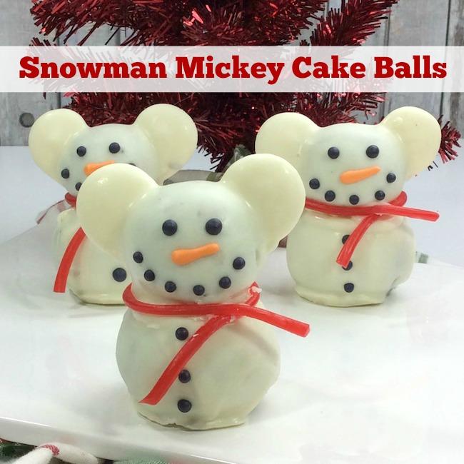 Snowman Mickey Cake Balls Recipe