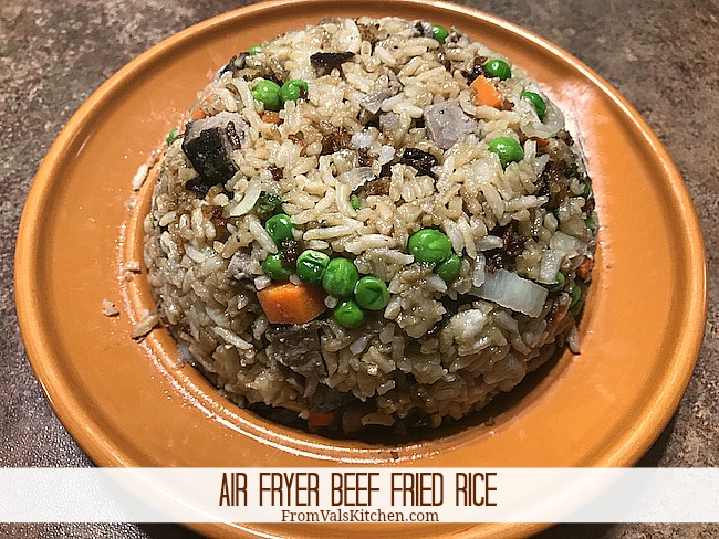 Air Fryer Beef Fried Rice Recipe From Val's Kitchen
