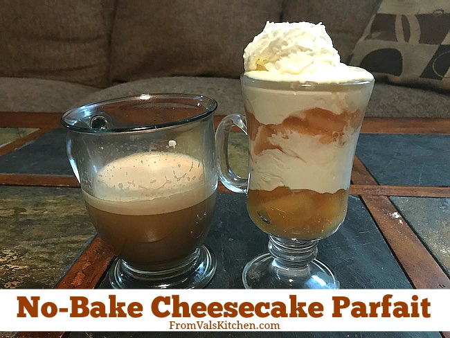 No-Bake Cheesecake Parfait Recipe From Val's Kitchen And Single Serve Baileys Cappuccino K-Cups #MomBlogTourFF