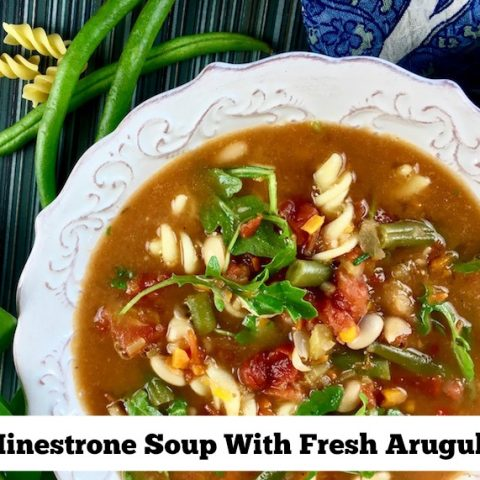 Minestrone Soup With Fresh Arugula Recipe