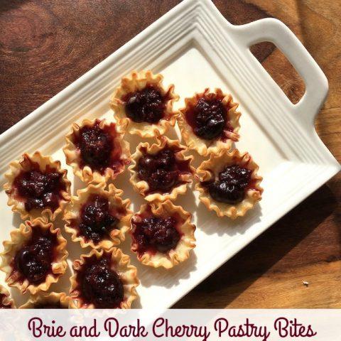 Brie and Dark Cherry Pastry Bites Recipe