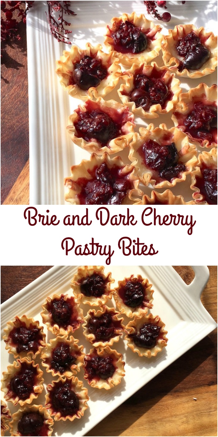 Brie and Dark Cherry Pastry Bites Recipe