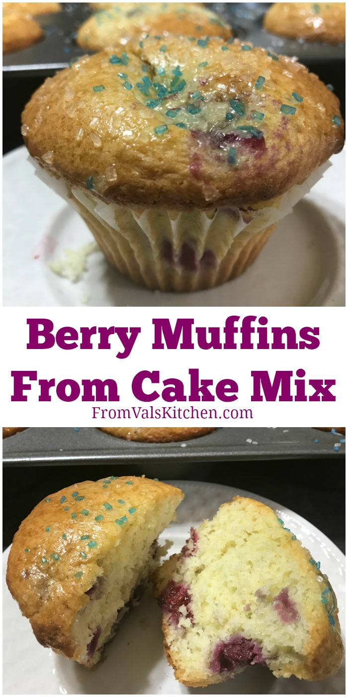 Berry Muffins From Cake Mix Recipe From Val's Kitchen