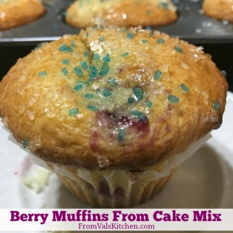 Berry Muffins From Cake Mix