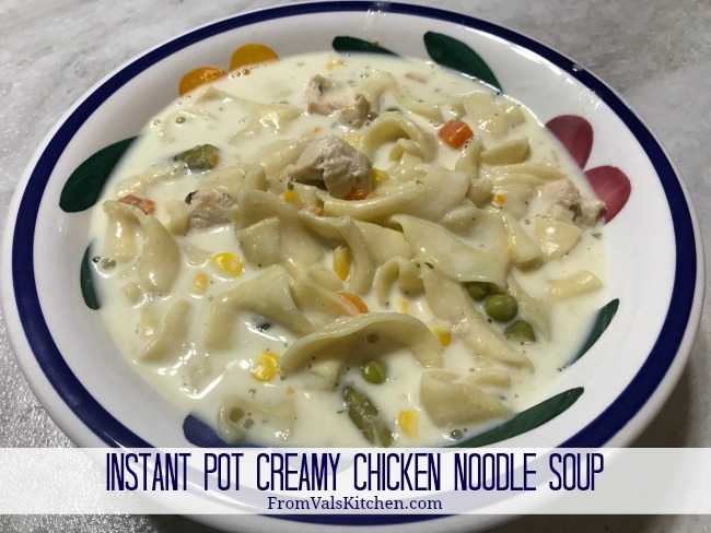 Instant Pot Creamy Chicken Noodle Soup Recipe From Val's Kitchen