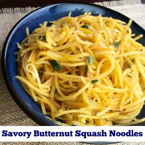 Savory Butternut Squash Noodles Recipe