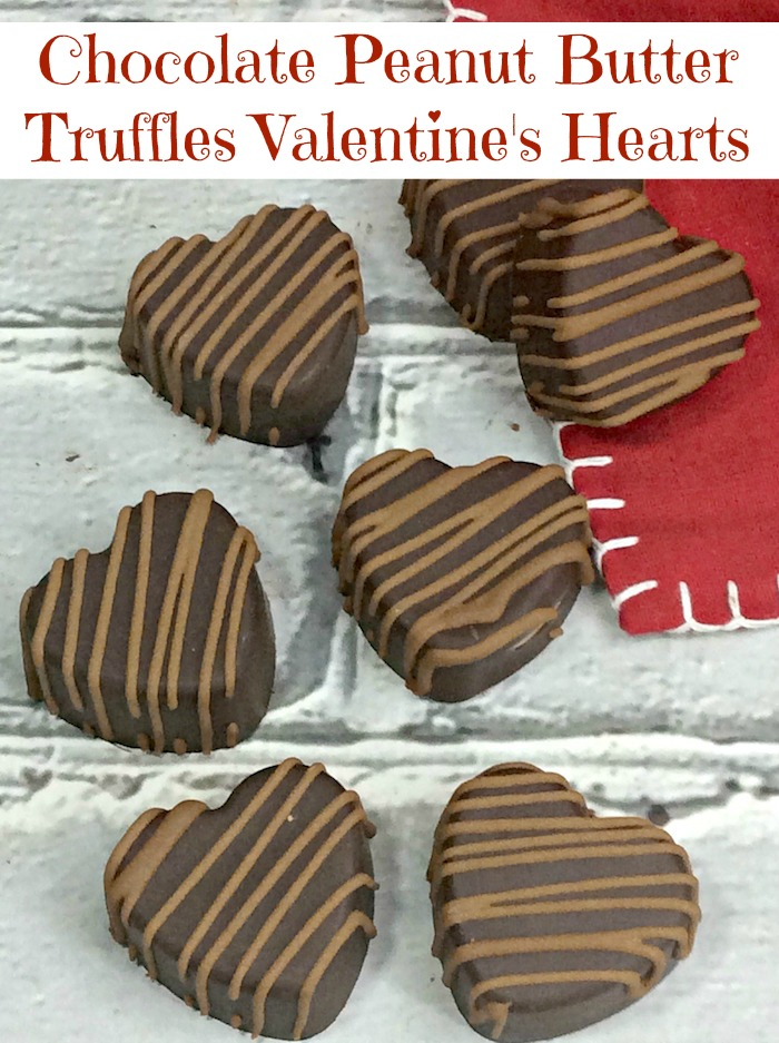 Chocolate Peanut Butter Truffles Valentine's Hearts Recipe From Val's Kitchen