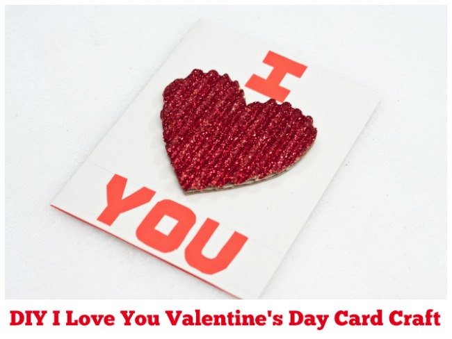 DIY I Love You Valentine's Day Card Craft