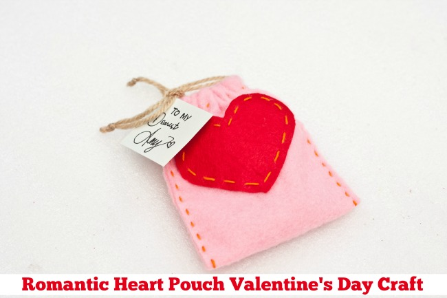 Romantic Heart Pouch Valentine's Day Craft
