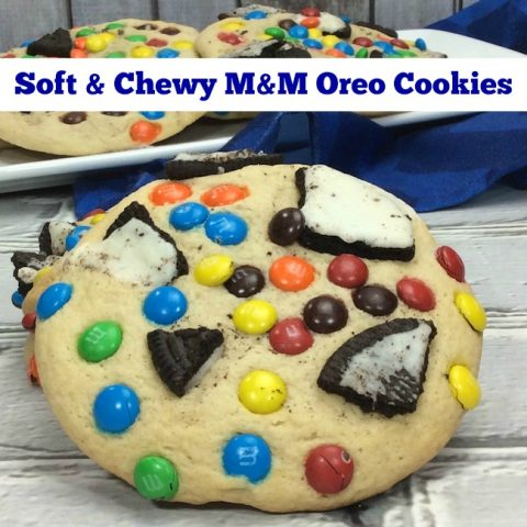 Soft & Chewy M&M Oreo Cookies