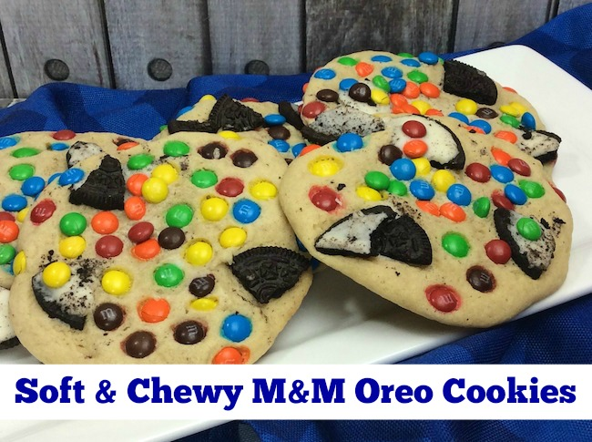 Soft & Chewy M&M Oreo Cookies Recipe From Val's Kitchen